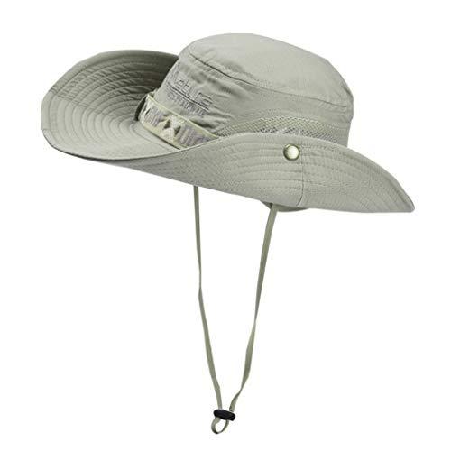 BAOGUAN Schnelltrocknender Fischerhut for Männer zum Angeln im Freien. Atmungsaktive Sonnenschutzkappe (Color : D, Size : 57-58cm)