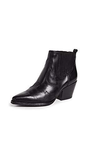 Sam Edelman Women's Winona Ankle Boot, Black Leather, 10.5 Medium US