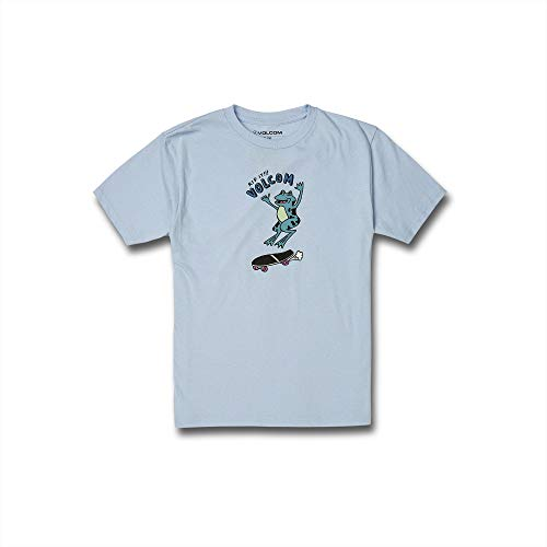 [ボルコム] [キッズ] 半袖 プリント Tシャツ (ロゴプリント)[ C3512033 / RIP IT S/S TEE ] 子供服 かわいい PDR_パウダーブルー US L (日本サイズL相当)