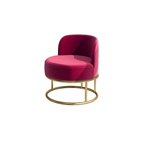 YANGDONG Pequeña Silla De Sofá Individual, Diseño Simple Y Moderno, Cojines De Terciopelo Rojo/Verde, Adecuado para Muchas Escenas (Color : Red)