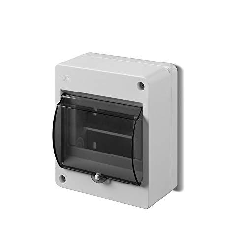 Kleinverteiler IP30 Aufputz Sicherungskasten 1-Reihig für 5 Module Verteilerkasten Unterverteilung