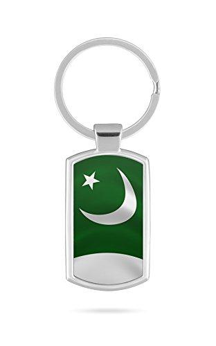Schlüsselanhänger mit Gravur Wunschtext Name Pakistan Fahne