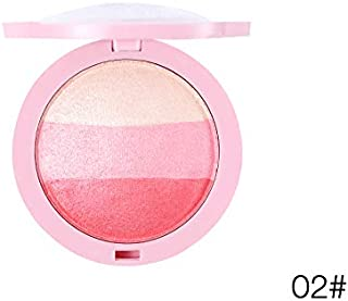 Natural Blusher Makeup Ice Cream Baked Baking Powder Blush Palette 3D Cheek Shadow Sleek Beauty Cosmetics