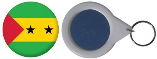 MadAboutFlags Spiegel Schlüsselbund Flagge Fahne São Tomé und Príncipe - 58mm