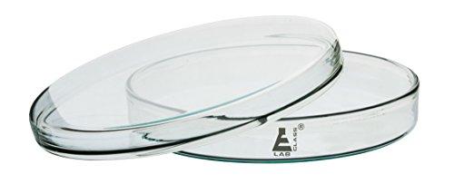 Eisco Labglass CH0370C Premium Petri Dish, Heavy Borosilicate Glass, 100mm Diameter, 17mm Height, Pack of 5