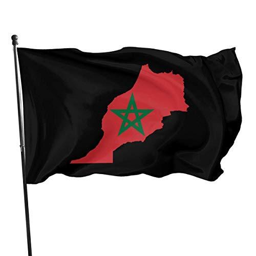 chenguang4422 Marokko Vlag Kaart Outdoor Vlag 4x6 Voeten Decoratieve Vlag voor Achtertuin, Thuis, Feest
