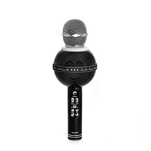 Draadloze karaoke microfoon, ingebouwde Bluetooth microfoon luidspreker karaoke speler met Mic KTV, compatibel met PC/iPad/iPhone☺ beste keuze voor thuis, KTV of Outdoor Party Gold zwart