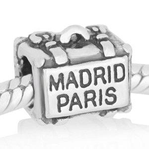 Abalorio Niagarra maleta Madrid - Paris, similar abalorios pandora