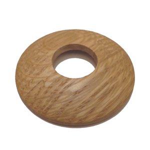 Madera de roble maciza collar para tubería tubo de anillo/Radiador/rosa
