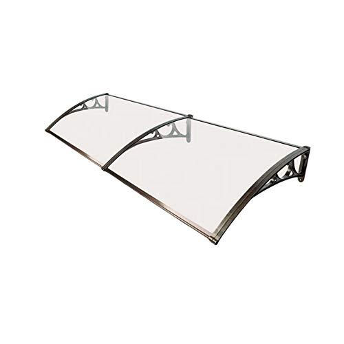 WXQIANG Markise Regen Außen Türen und Fenster Schutz Regenschutz Mute Design-PC Endurance Board Größe Anpassbare (Size : 100X180CM)