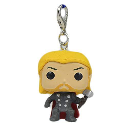 Thor Marvel Avengers Infinity Superhero Merchandise collectors Character 3D Figure Keyring Keychain Bag Backpack Clip Charm Affordable Christmas Stocking Filler Birthday Novelty Gift Set Idea