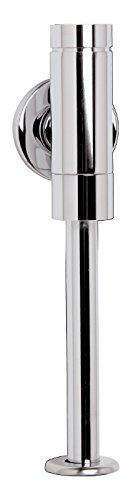 Schell Druckspüler Schellomat Basic, 024760699, für Urinal, Vorwand-Druckspüler, Düsenbohrungs-Vorfilter, Schubrosette & Spülrohr, Chrom, 21270 0