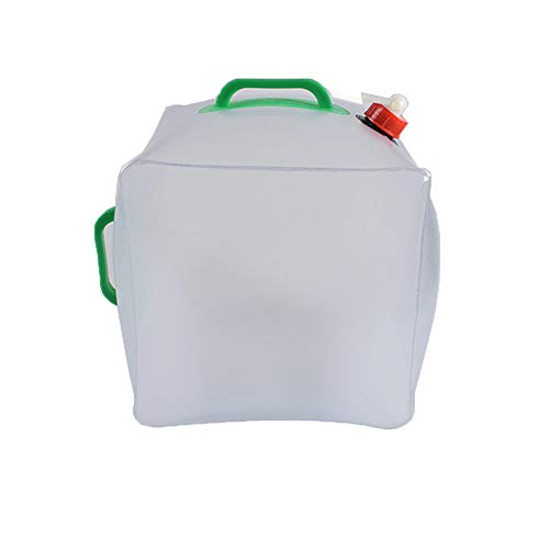 20L Lebensmittelgeeigneter PVC Faltbarer Wasserkanister Wassertank Wasserbeutel Faltkanister Wasserbehälter Wasser Lagerung (Water Container, Durchsichtig 20L)