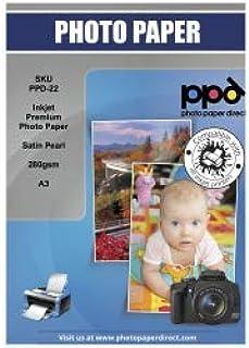 PPD Papel fotográfico con acabado satín para impresión de inyección de tinta A3 280 g/m² X 50 hojas PPD-22-50