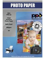 PPD Papel fotográfico acabado satín impresión inyección