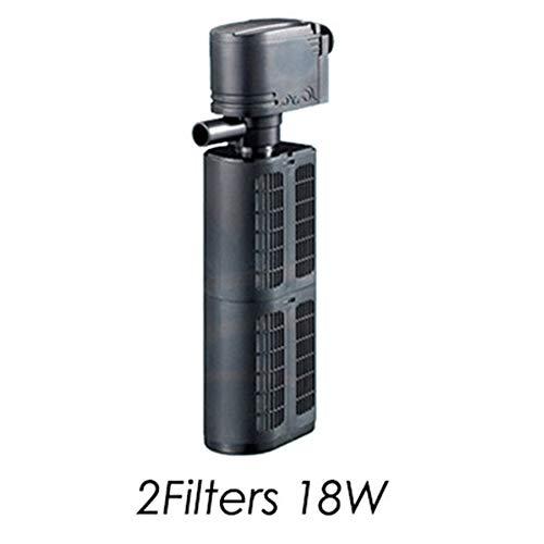 WhYlzh filter voor aquarium, pomp 12/18/25/35 W, voor vissen, vijverfilter, biologische vijver, spons, pomp spray, US Plug adapter, 2Filters 18W