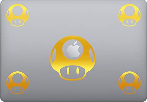 Pegatinas Super Mario – Sticker – PC – Cascos – Coche Moto – Mobiliario – Sticker Mac Computer Cód. P0031 (Oro 091)