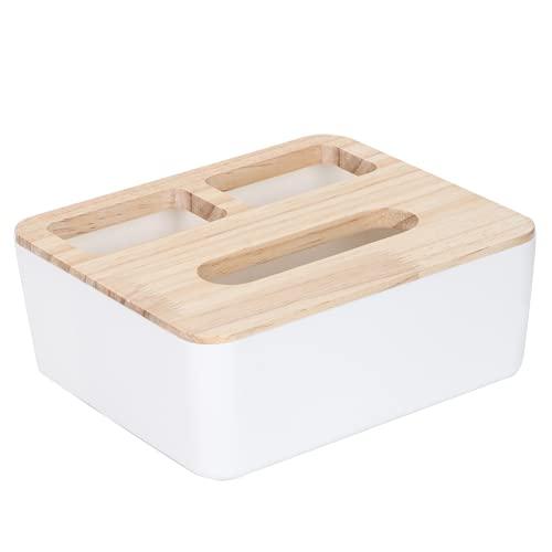 Porte-mouchoirs, avec couvercle boîte de cube de mouchoirs en papier, boîte à mouchoirs pour bureau(Three grid tissue box)