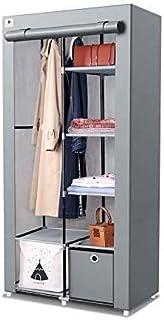 Armoire de rangement portable en toile sur pied avec rail de suspension et tiroir cubique (1 pièce) Idéal pour le rangemen...