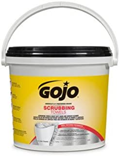 GOJO 6398 Scrubbing Towels 170 Count Wipes 1/EA Bucket