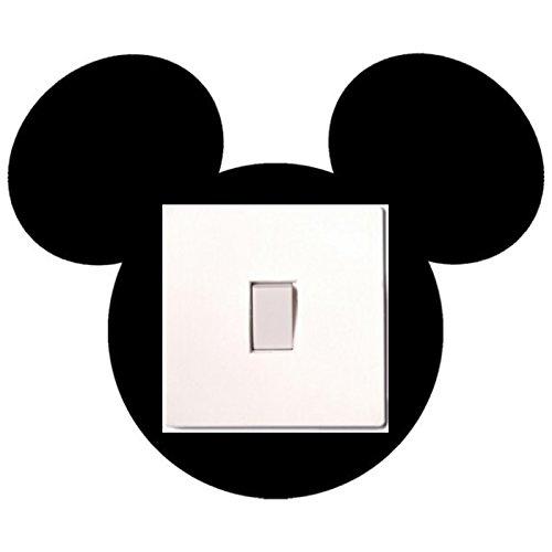 Lichtschalter-Aufkleber Mickey Maus, für Kinder-/Schlafzimmer, selbstklebendes Vinyl