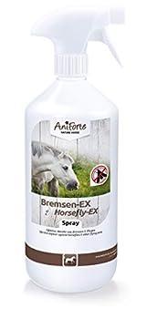 AniForte Horsefly-EX Spray pour chevaux 1L - Horsefly spray efficace & durable contre les taons, Protection immédiate contre les moustiques, mouches, parasites, bloqueur de taons, Anti Mouches cheval
