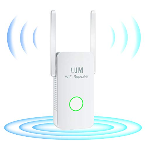 UJM WiFi Extender 1200Mbps, WiFi Range Extender 2.4GHz & 5.8GHz Dual Band Wireless Signal Booster WiFi Repeater with Ethernet Port,WiFi Booster and Signal Amplifier to Whole Home & Smart Devices