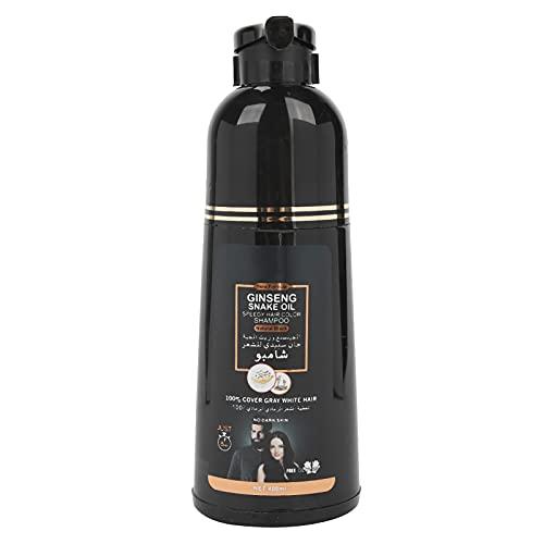 Blacken Hair Shampoo, Tinte Limpiador para el cabello para cubrir las canas, Ingredientes suaves Planta de lavado de cabello para hombre y mujer Limpieza diaria Suaviza, fortalece y mejora el