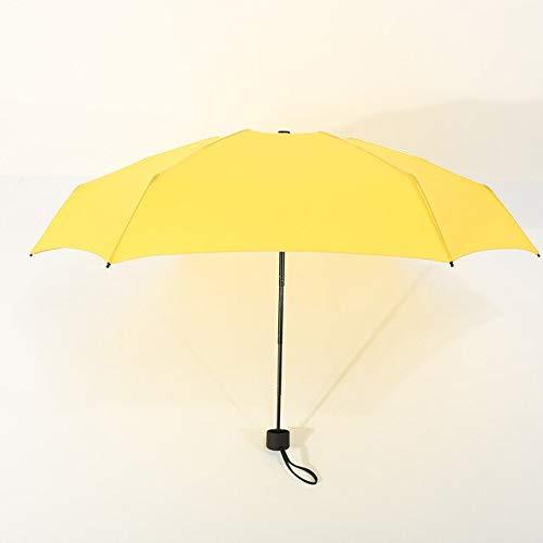 BDWS Paraguas Abrigo de Paraguas Ligero Mujer Sombrilla de Sol de Tres...