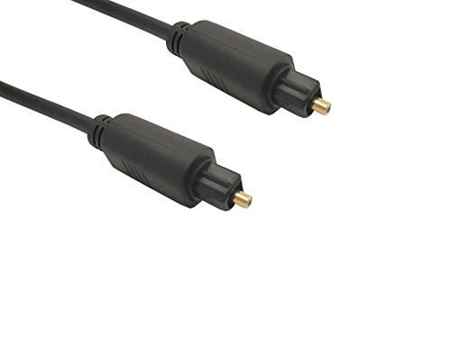 Lineaire VR90B Toslink EIAJ Digital Audio Kabel (männlich/männlich auf Glasfaser, für Heimkino-Verstärker, HiFi-Anlage, DVD-Player und Blu-ray, Soundbar, TV-Box (Freebox, SFR, Bouygues, Orange), Spielekonsole (PS4, Xbox One) etc. 1,20 m