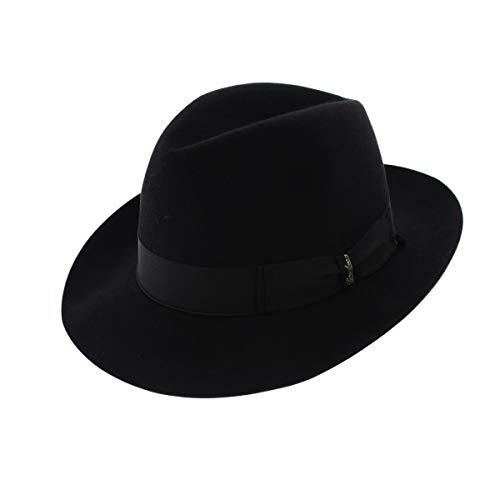Borsalino Chapeau Feutre Poil de Castor Noir Beaver 56 cm