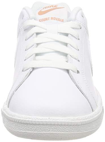 Nike Court Royale, Zapatillas de Gimnasia Mujer, Blanco (White/White/Rose Gold 116), 38 EU