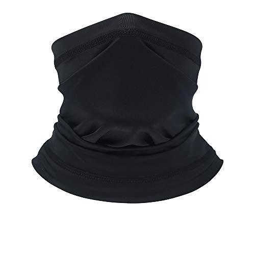 FU JIE Magic Seamless Bandana Face Mask UV Face Mask for Dust, Outdoors, Festivals,Yoga,Sports,Cycling(Black)