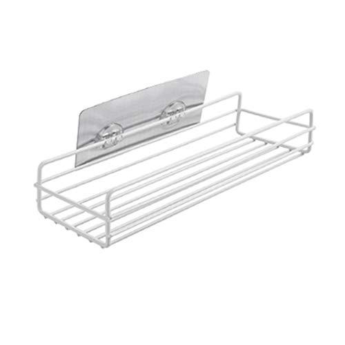 ZJL220 Plancha de vapor para baño o ducha, champú, estantería de almacenamiento de cocina, organizador de cesta para accesorios de perforación gratuitos