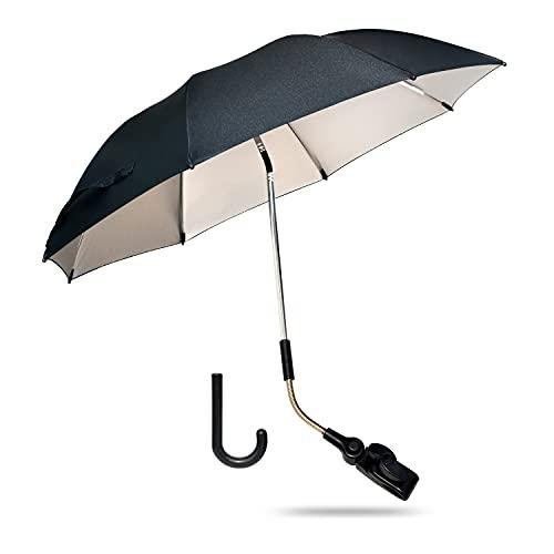 Kinderwagen-Sonnenschirm, Universal-Sonnenschirm 74 cm Durchmesser, UV-beschichtet für UV-Schutz, bewertet mit UV 50+.…