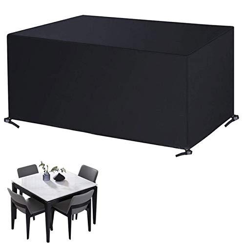 ZCED Funda Muebles Jardín Impermeable Cubierta De Protección para Mesa Muebles 420D Oxford para Sofa De Jardin Patio Al Aire Libre Mesa Y Sillas,200x200x80cm(79x79x31in)