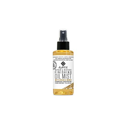 Alaffia, Repair & Restore Finishing Oil Mist, For Dry, Damaged or Dehydrated Hair, Natural,...