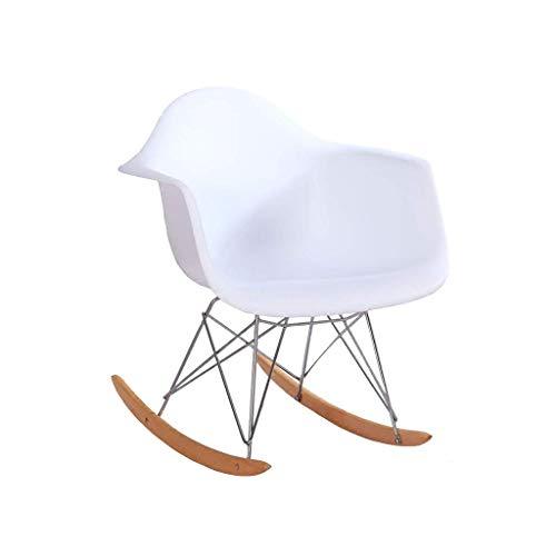 Zryh Silla Mecedora Moderna, Hermosa y Elegante, con Tratamiento de contrapresión Simple (Blanco)
