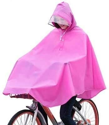 Chubasquero mujer Poncho de plástico, engrosamiento impermeable al aire libre, a prueba de viento y transpirable Riding poncho, de moda del impermeable de bicicletas, Apto for hombres y mujeres del po