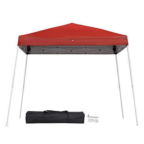YAHEETECH 10x10ft Outdoor Pop-Up Canopy Tent with Carrying Bag, Height Adjustable, Red