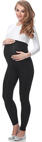 Be Mammy Leggins Premamá Largos Embarazo Lactancia 02(Negro, XL)