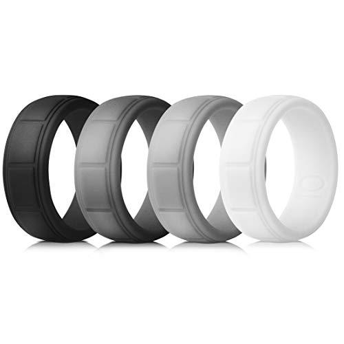 EMBNN Silicone Wedding Ring for Men, Thin,...