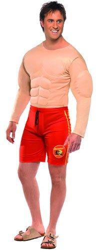 Smiffys, Herren Baywatch Rettungsschwimmer Kostüm, Muskelbrust und Angesetzte Shorts, Größe: M, 36584