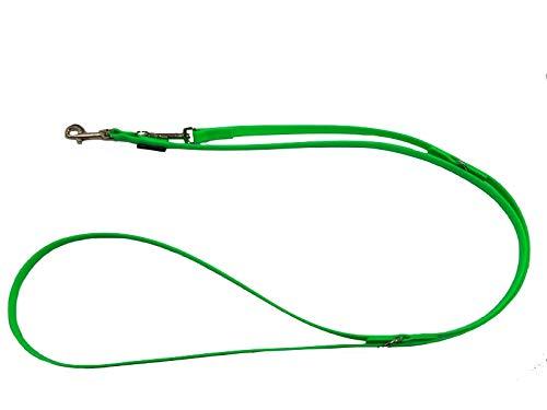elropet® hondenriem neongroen BioThane® verstelbaar 2,40 m - 16 mm breed