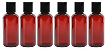 4oz Empty Amber Brown Plastic Squeeze Bottles with Disc Top Flip Cap  6 pack   BPA-Free Plastic Containers For Shampoo Lotions Liquid Body Soap Creams  4 ounce Amber Brown