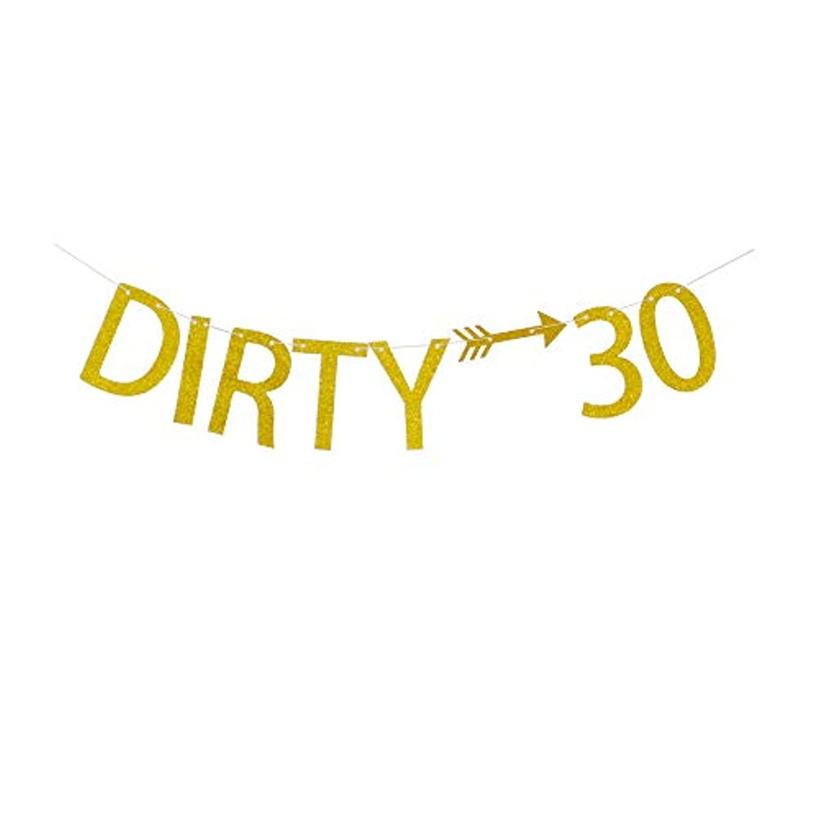 Dirty 30 Banner, 30th Birthday Party Supplies, Gold Glitter Party Decorations