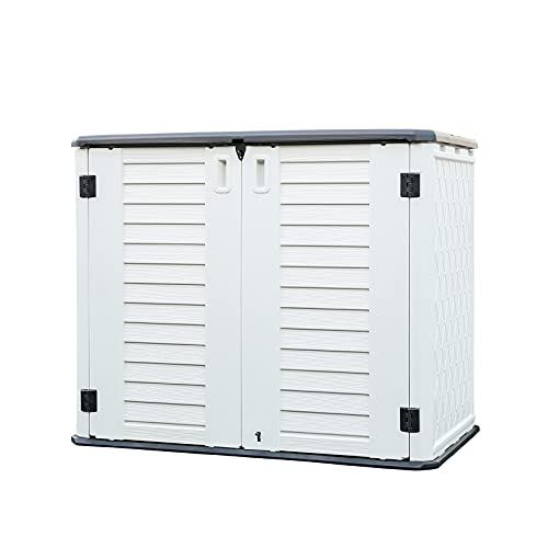 10 Outdoor Garbage Can Storage Ideas for Your Backyard:KINYING Horizontal Storage Shed