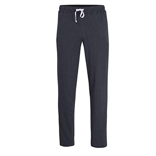 Ceceba Herren Lange-Hose, Schlafhose, Pyjama-Hose - Baumwolle, Interlock, blau, Melange 50