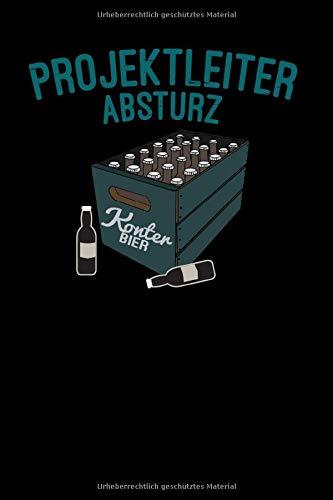 Projektleiter Absturz Konter Bier: 6x9 Festival | lined | ruled paper | notebook | notes