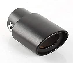 1x 62mm Stainless Steel Exhaust Pipe Trim Car Tip Tail Muffler Tail Throat Black For Universal Auto Styling
